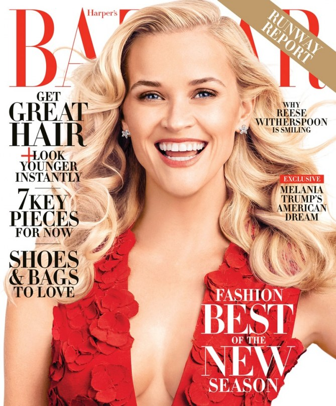 Reese Witherspoon pour Harper's Bazaar