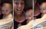I love you - SO süß singt dieses Baby zusammen mit seiner Mama