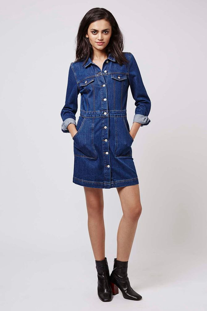 Chemisier di denim Topshop