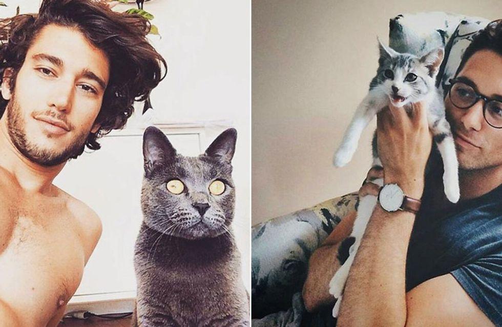 Der beste Instagram-Account aller Zeiten: Heiße Typen & ihre niedlichen Katzen ♥