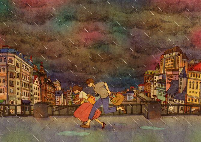 Amore è passare insieme nella tempesta