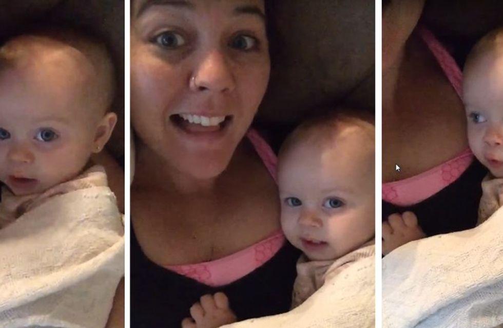 """Craquant : Ce bébé chante """"I Love You"""" pour imiter sa maman. On parie que vous ne résisterez pas"""