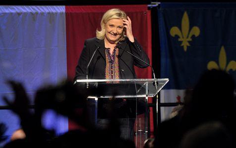 Marine Le Pen lors du résultat des régionales