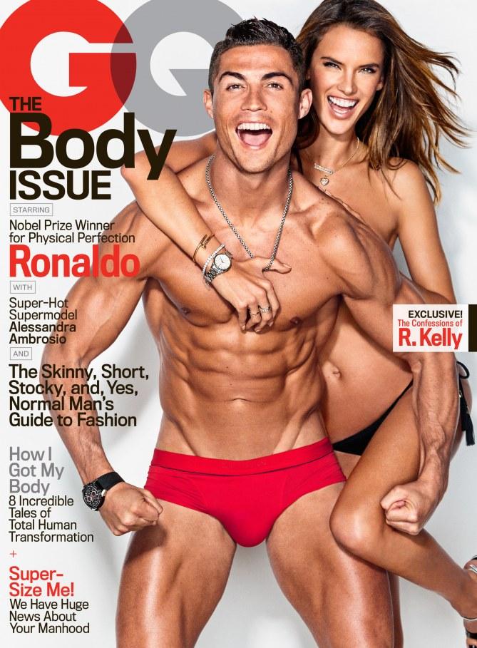 Cristiano Ronaldo et Alessandra Ambrosio pour GQ