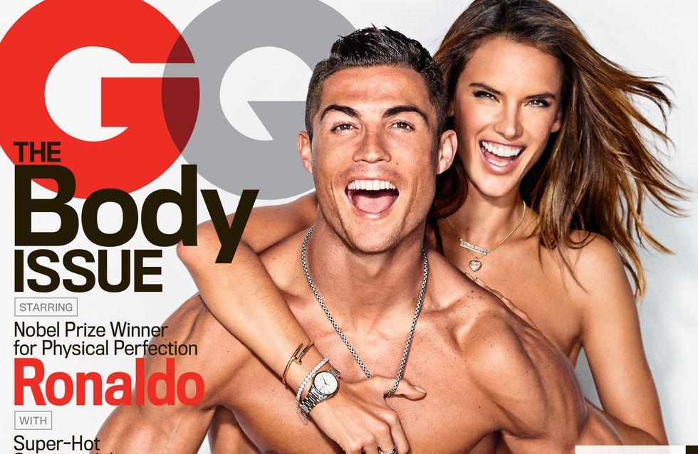 En slip et topless, Cristiano Ronaldo et Alessandra Ambrosio posent pour GQ (Photos)