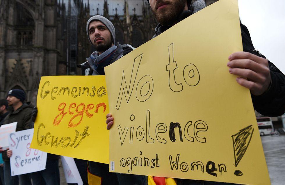Des réfugiés manifestent en Allemagne contre le racisme après les agressions de Cologne