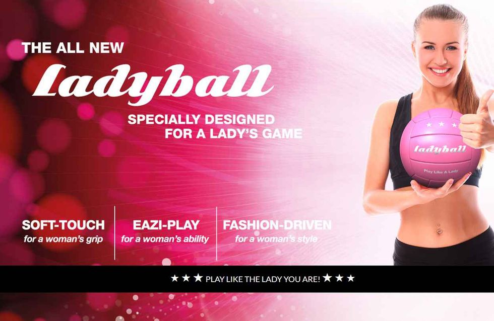 Ladyball, un faux ballon de foot sexiste pour faire parler du sport féminin (Photos)
