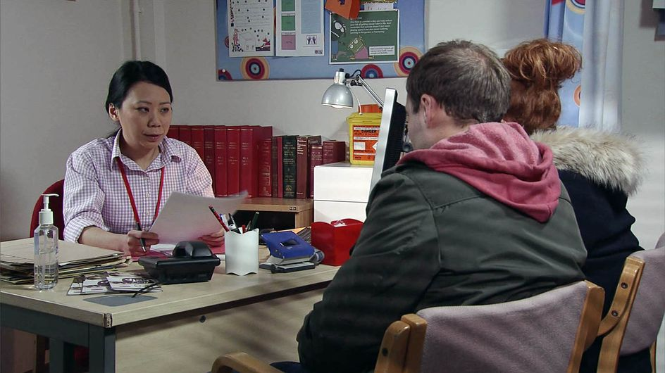 Coronation Street 29/1 - Kevin opens his door to a shock