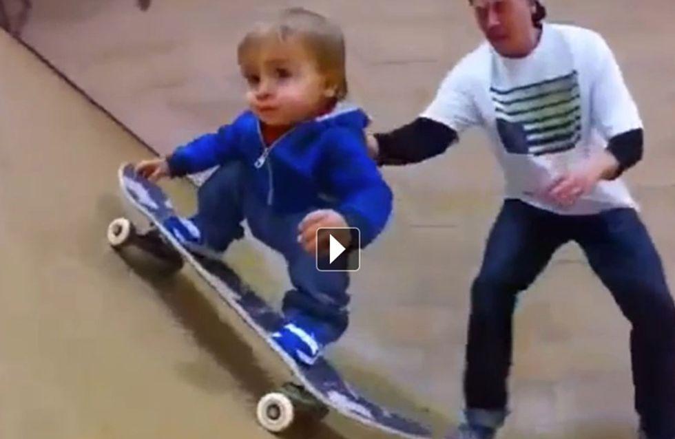 Découvrez le plus jeune skateur du monde (vidéo)