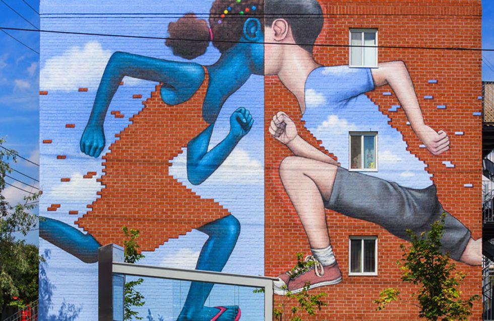 Cuando los grafitis: cobran vida: Julien Malland transforma edificios en verdaderas obras de arte