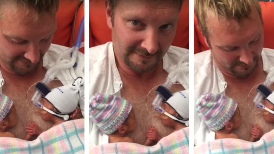 Herzzerreißend schön: Die innige Verbindung dieser neugeborenen Zwillinge rührt Mama zu Tränen