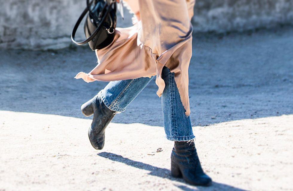 Vestido + pantalón, propuesta de pasarela adaptada a la calle