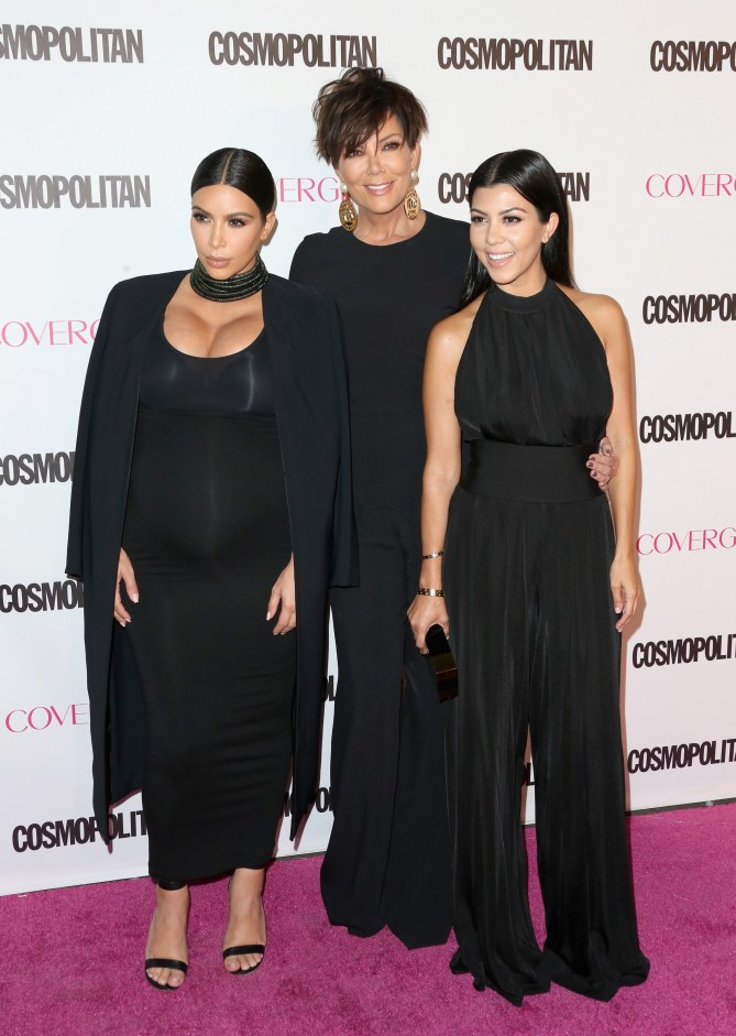 Kris Jenner, Kourtney et Kim Kardashian