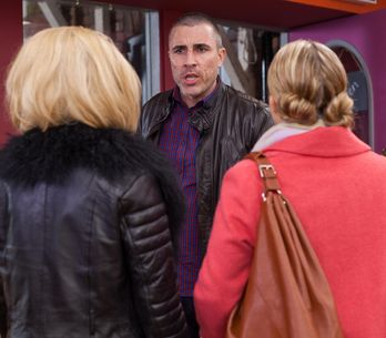 Hollyoaks 4/2 - Lindsey tells Kim they need to make sure Trevor stays in the frame