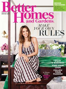 Jessica Alba en couverture de Better Homes and Gardens