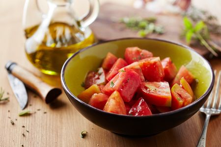Tomate con aceite y sal
