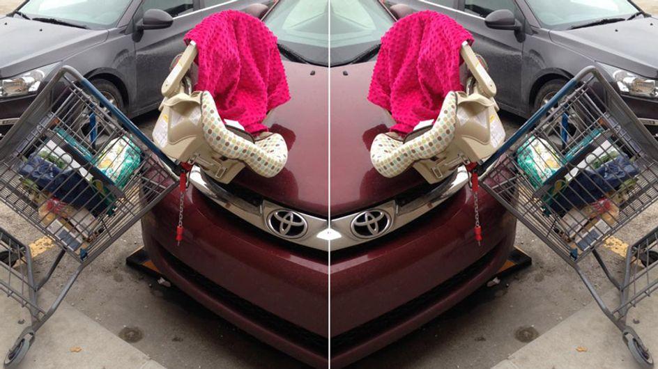Eltern aufgepasst: DARUM solltet ihr eure Babyschale NIEMALS auf den Einkaufswagen stellen