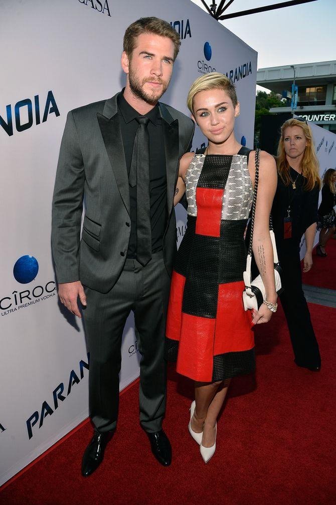 Liam Hemsworth et Miley Cyrus en 2013