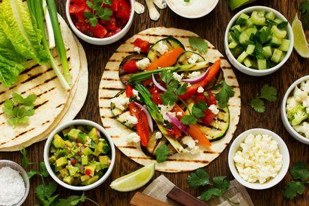 Tacos con verduras a la plancha