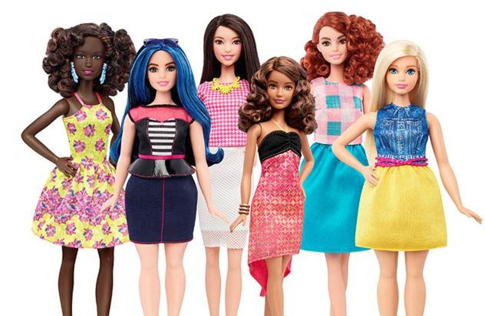 Barbie in klein, groß oder kurvig: Die Kultpuppe gibt es nun mit realistischem Körperbau