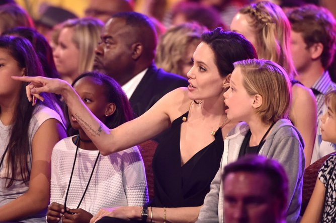 Angelina Jolie et ses filles Zahara et Shiloh