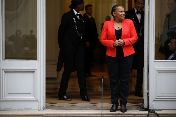 Christiane Taubira quitte l'Elysée