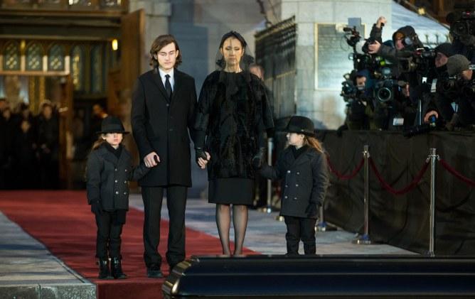 Céline Dion et ses fils, René-Charles, Eddy et Nelson