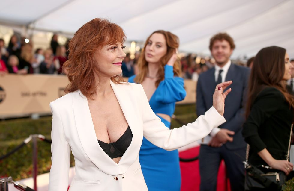 Le décolleté de Susan Sarandon affole le red carpet des SAG Awards (Photos)