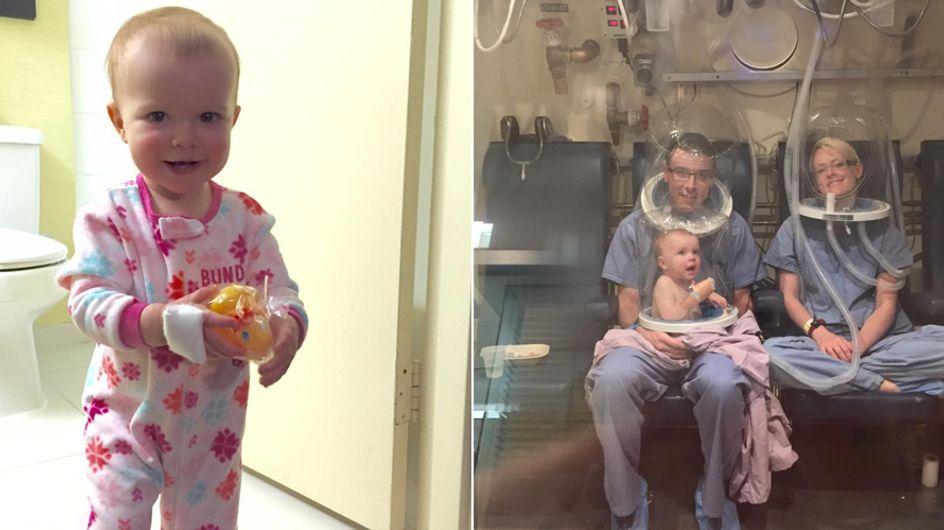Diese Familie entging nur knapp dem Tod - weil ihre kleine Tochter sie aus dem Schlaf riss