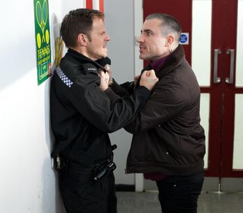 Hollyoaks 11/2 - Trevor goes after Ben