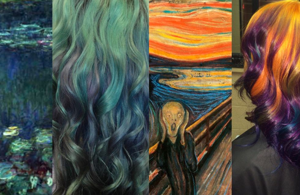 This Girl Can Dye Hair To Look Like Fine Art And We Are Obsessed