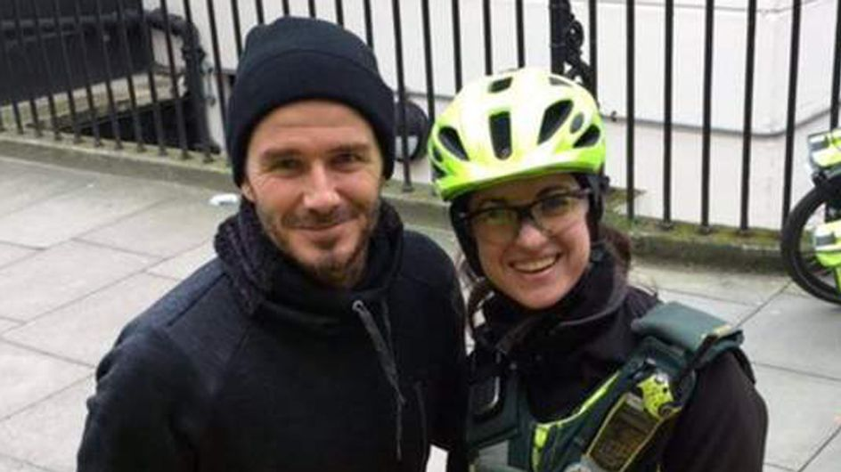 David Beckham Fetches Tea For A Paramedic Because He's A Bloomin' Angel