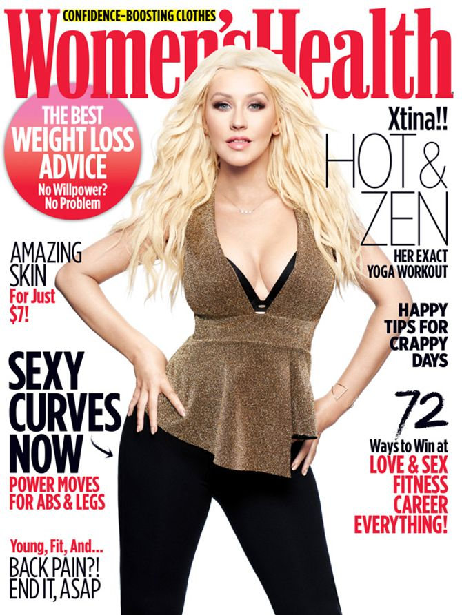 Christina Aguilera pour Women's Health