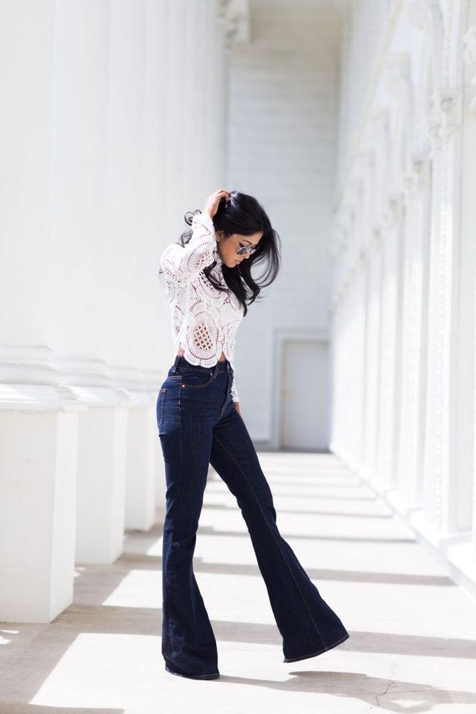 Look con i pantaloni di jeans