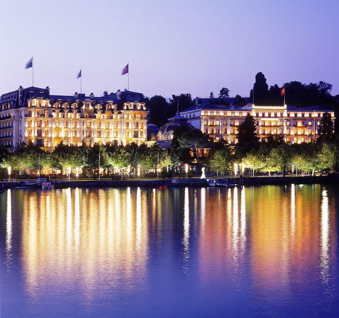 La facade du Beau-Rivage Palace de Lausanne