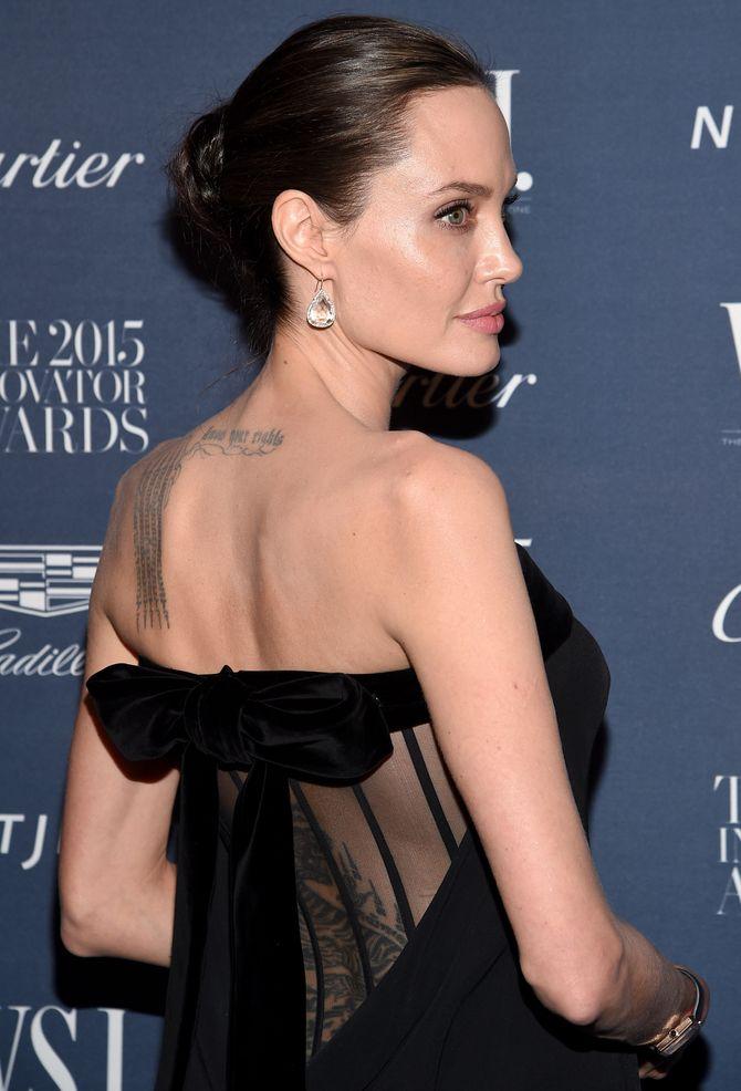 Angelina Jolie tatouages