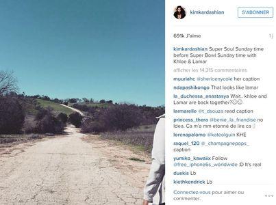 Le post de Kim qui intrigue les fans à propos de Khloé et Lamar