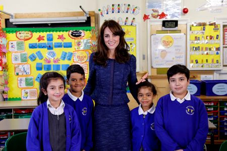 Kate Middleton et des enfants de l'association Place2be