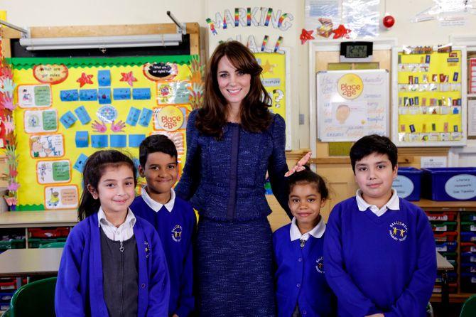 Kate Middleton et des enfants de l'association Place2be