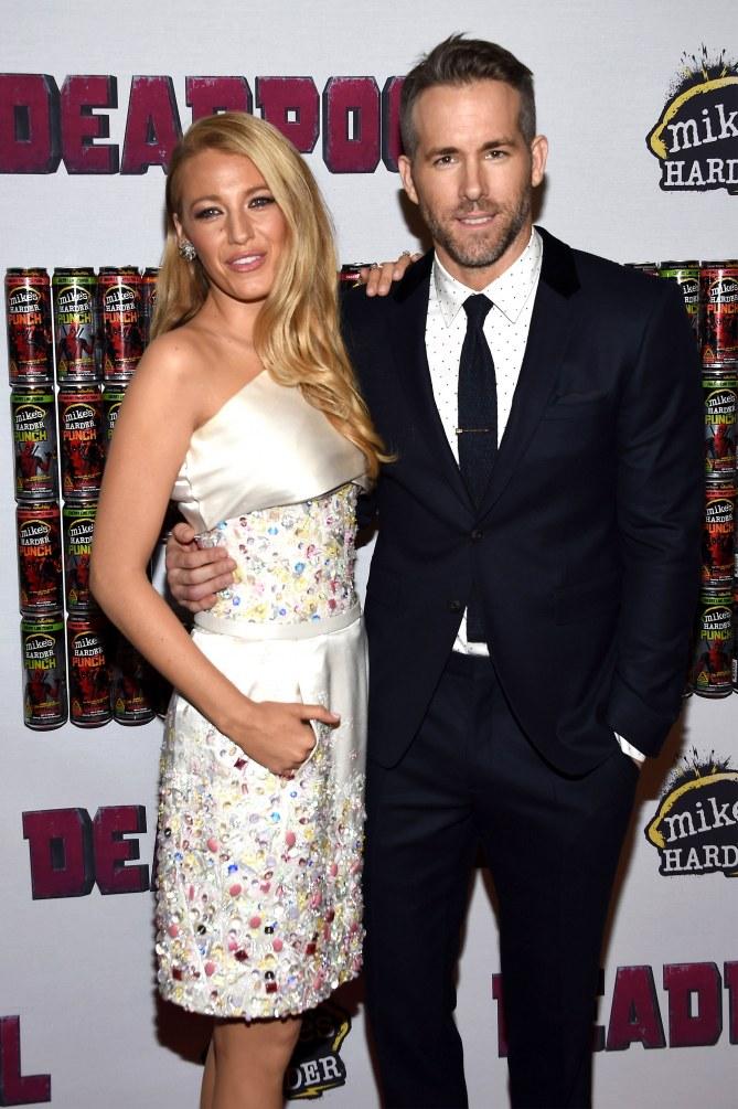 Blake Lively et Ryan Reynolds à une première
