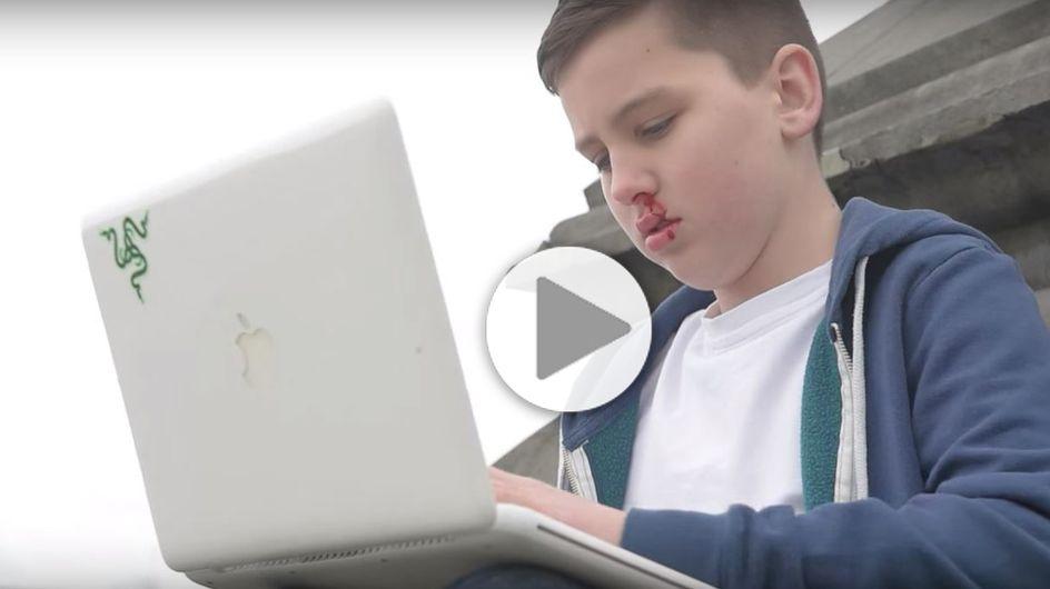 A 13 ans, cet Irlandais réalise une vidéo poignante contre le cyber-harcèlement