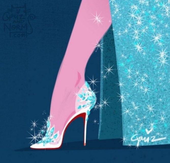 Les chaussures Louboutin de la Reine des Neiges (Elsa)