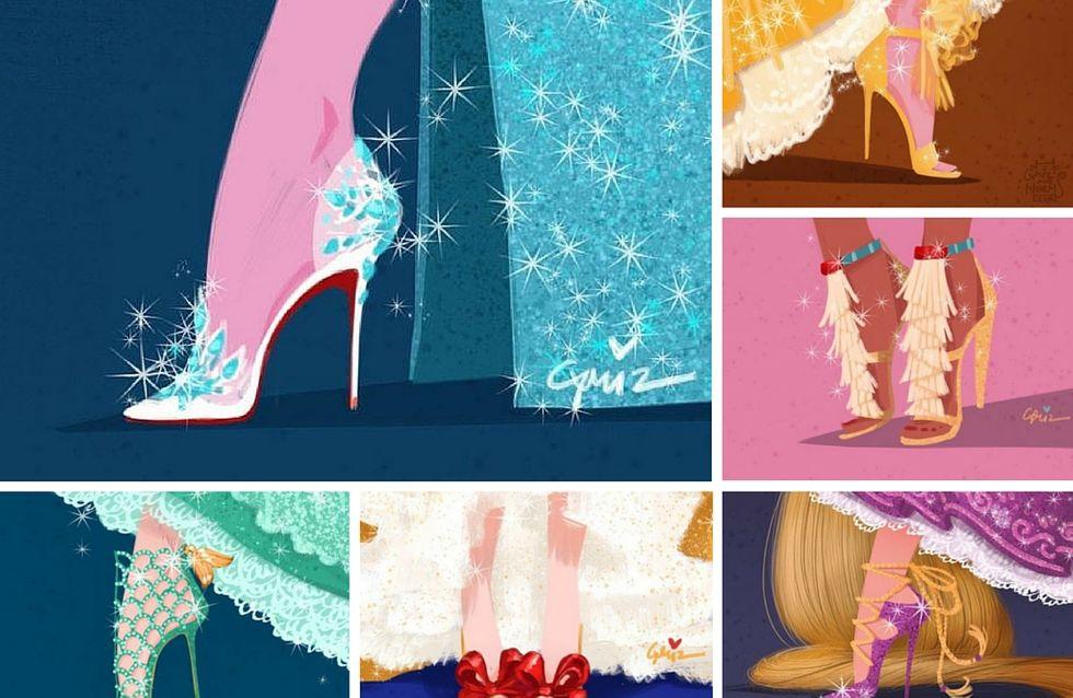 Et si les princesses Disney portaient des chaussures de créateurs...