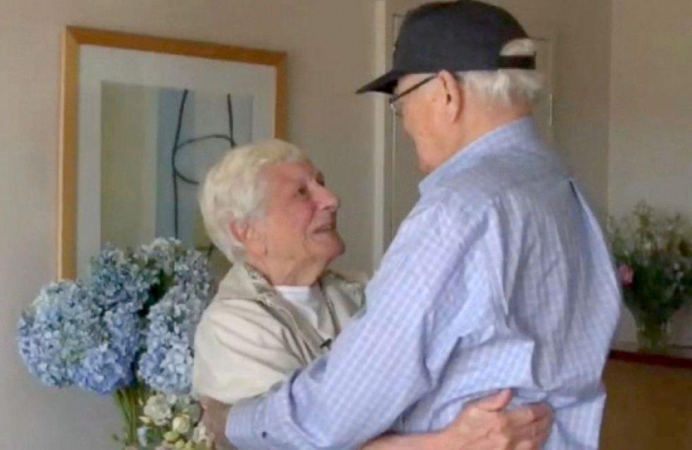 70 ans après, un vétéran de la Seconde Guerre Mondiale retrouve la femme de sa vie (Photos et vidéo)