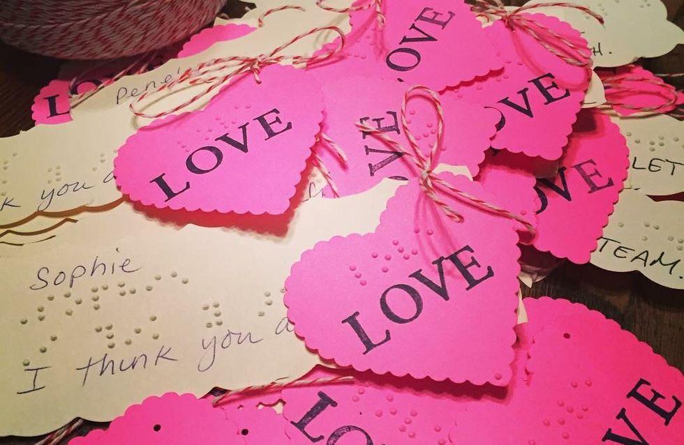 L'émouvant message d'amour d'une petite fille à ses camarades de classe (Photo)