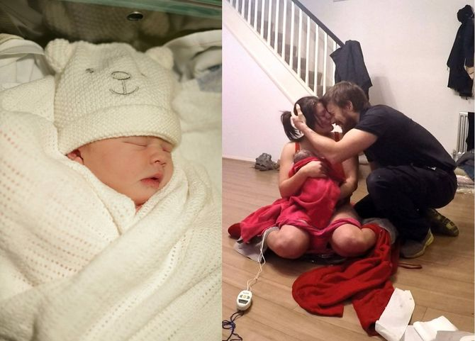 Isabelle, la petite fille de Martin et Holly