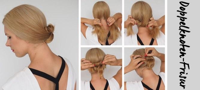 Doppelknoten-Frisur