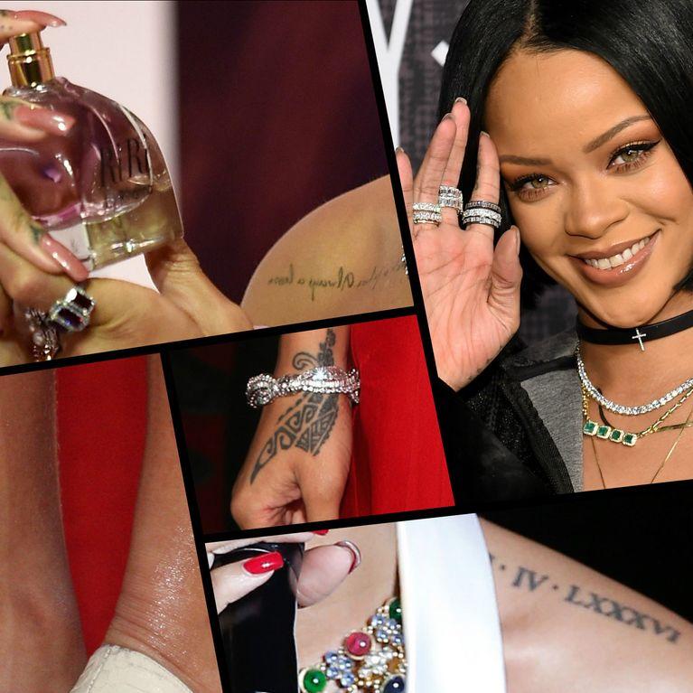 Rihanna Accro Aux Tatouages Photos