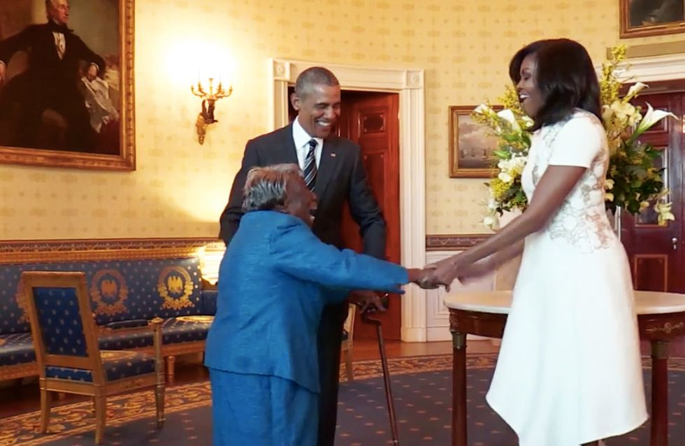 Barack Obama Dancing With an Excited 106 Year Old At The White House Will Melt Your Heart