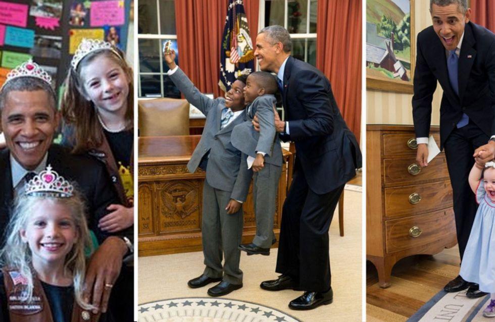 #ObamaAndKids : l'attendrissante série photo qui prouve que ce président est définitivement très cool